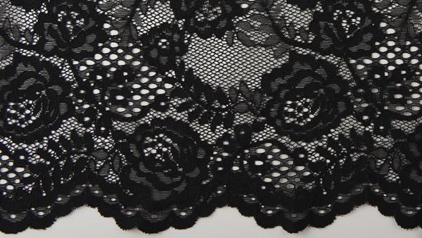 encaje negro de nylon